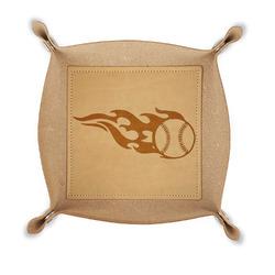 Baseball Genuine Leather Valet Tray (Personalized)