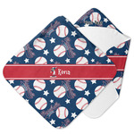 Baseball Hooded Baby Towel (Personalized)