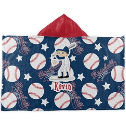 Baseball Kids Hooded Towel (Personalized)