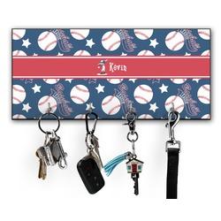 Baseball Key Hanger w/ 4 Hooks (Personalized)