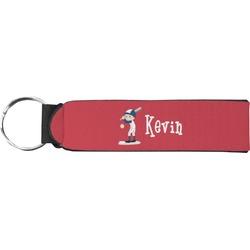 Baseball Neoprene Keychain Fob (Personalized)