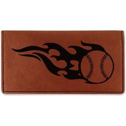 Baseball Leatherette Checkbook Holder (Personalized)