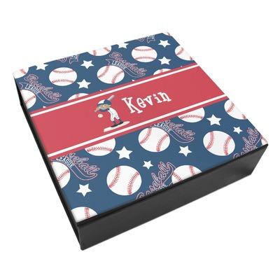 Baseball Leatherette Keepsake Box - 3 Sizes (Personalized)