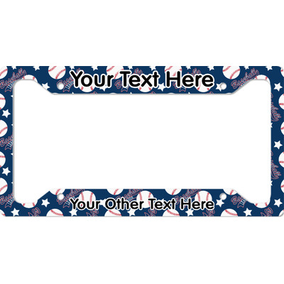 Baseball License Plate Frame - Style A (Personalized)