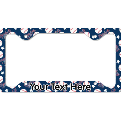 Baseball License Plate Frame - Style C (Personalized)