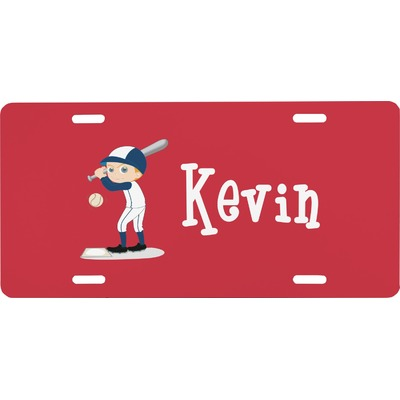 Baseball Front License Plate (Personalized)