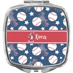 Baseball Compact Makeup Mirror (Personalized)