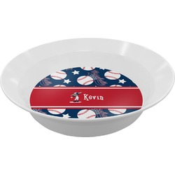 Baseball Melamine Bowl - 12 oz (Personalized)