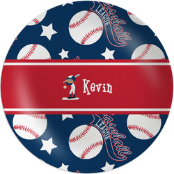 "Baseball Melamine Plate - 8"" (Personalized)"