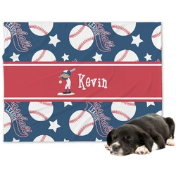 Baseball Minky Dog Blanket (Personalized)