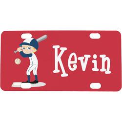 Baseball Mini / Bicycle License Plate (Personalized)