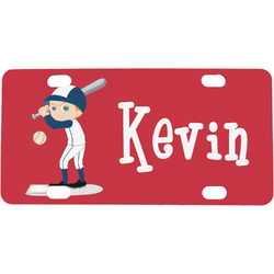 Baseball Mini / Bicycle License Plate (Personalized)