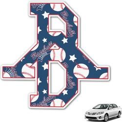 Baseball Monogram Car Decal (Personalized)