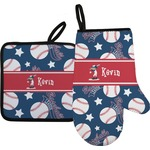 Baseball Oven Mitt & Pot Holder (Personalized)