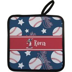 Baseball Pot Holder w/ Name or Text
