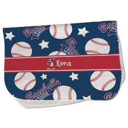 Baseball Burp Cloth - Fleece w/ Name or Text