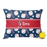 Baseball Outdoor Throw Pillow (Rectangular) (Personalized)