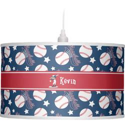 Baseball Drum Pendant Lamp (Personalized)