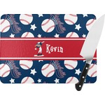 Baseball Rectangular Glass Cutting Board (Personalized)