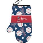Baseball Left Oven Mitt (Personalized)