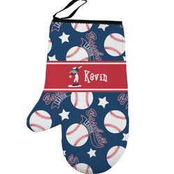 Baseball Left Oven Mitt (Personalized)