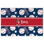 Baseball Laminated Placemat w/ Name or Text