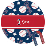 Baseball Round Magnet (Personalized)