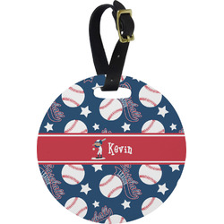 Baseball Round Luggage Tag (Personalized)