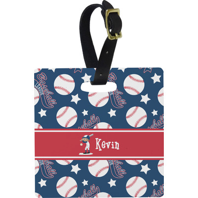 Baseball Square Luggage Tag (Personalized)