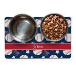Baseball Dog Food Mat (Personalized)