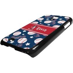 Baseball Plastic Samsung Galaxy 4 Phone Case (Personalized)