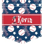 Baseball Iron On Faux Pocket (Personalized)