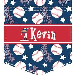 Baseball Iron On Faux Pocket (Personalized)