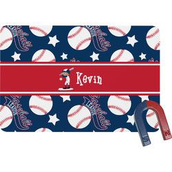 Baseball Rectangular Fridge Magnet (Personalized)