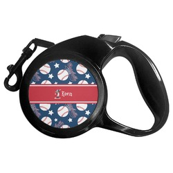 Baseball Retractable Dog Leash - Multiple Sizes (Personalized)