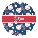 Baseball Round Decal (Personalized)