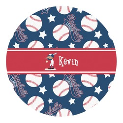 Baseball Round Wall Decal (Personalized)