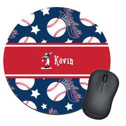 Baseball Round Mouse Pad (Personalized)