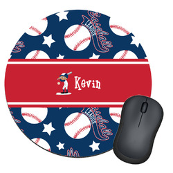 Baseball Round Mouse Pad (Personalized)