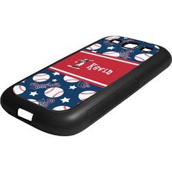 Baseball Rubber Samsung Galaxy 3 Phone Case (Personalized)