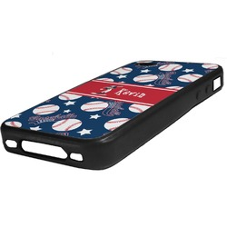 Baseball Rubber iPhone Case 4/4S (Personalized)