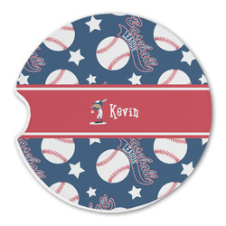 Baseball Sandstone Car Coaster - Single (Personalized)