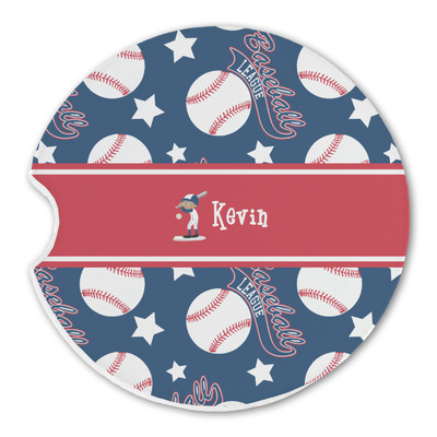Baseball Sandstone Car Coasters (Personalized)