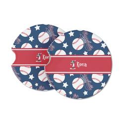 Baseball Sandstone Car Coasters (Personalized)