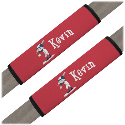 Baseball Seat Belt Covers (Set of 2) (Personalized)