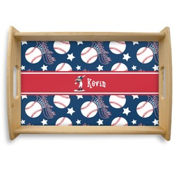 Baseball Natural Wooden Tray (Personalized)