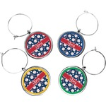 Baseball Wine Charms (Set of 4) (Personalized)