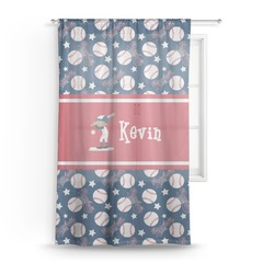 Baseball Sheer Curtains (Personalized)
