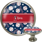 Baseball Cabinet Knob (Silver) (Personalized)