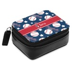 Baseball Small Leatherette Travel Pill Case (Personalized)